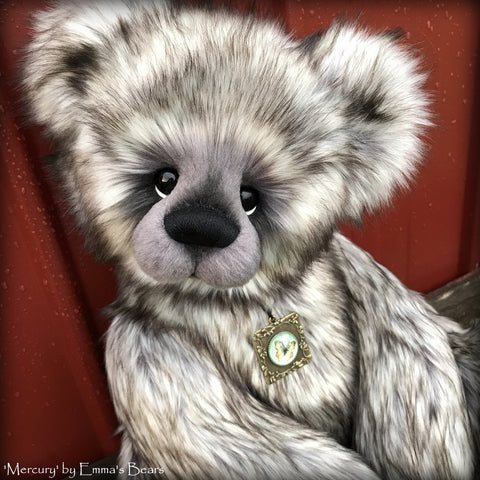 Mercury - 21IN faux fur bear by Emmas Bears - OOAK