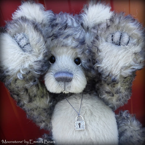 "Moonstone - 15"" kid mohair and alpaca artist bear  - OOAK by Emma's Bears"