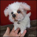 Moxy Pup - 7IN mohair puppy soft sculpture by Emmas Bears - OOAK