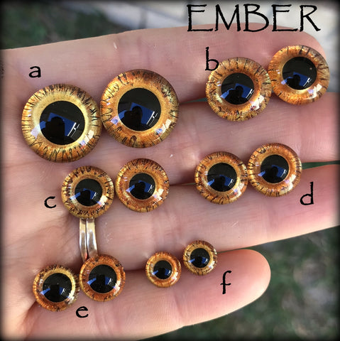 Hand Painted Eyes - EMBER