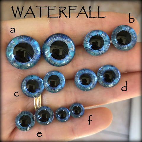 Hand Painted Eyes - WATERFALL