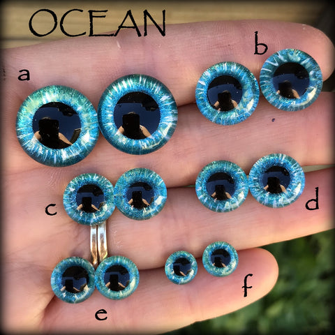 Hand Painted Eyes - OCEAN