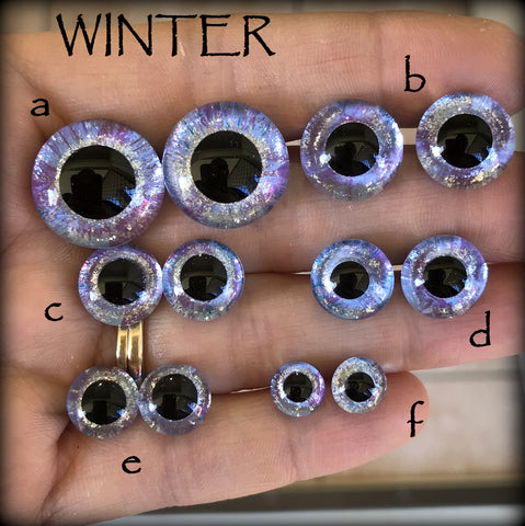 Hand Painted Eyes - WINTER