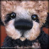 "Noah - 16"" curly kid mohair Artist Bear by Emma's Bears - OOAK"