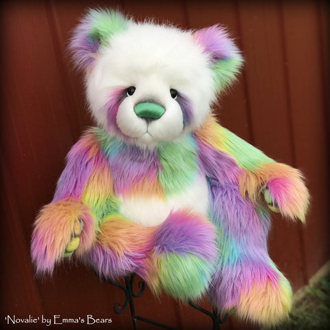 "KIT - 28"" Rainbow Panda Bear 'Novelie'"