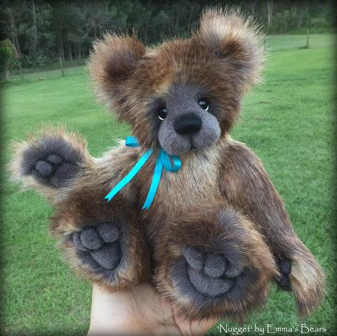 "Nugget - 13"" faux fur artist bear by Emma's Bears  - OOAK"