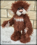 "KITS - 15"" Nutmeg Cookie Christmas mohair bear"