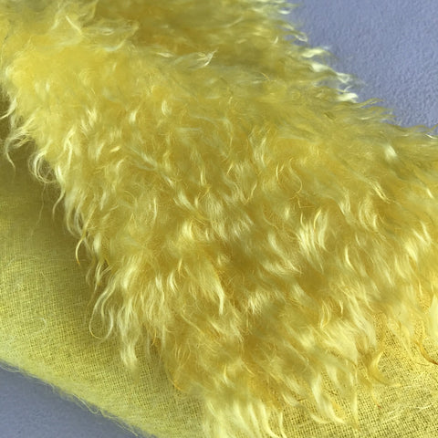 Curlylocks Mohair - Hand Dyed Lemon - Fat 1/8m - OCT060