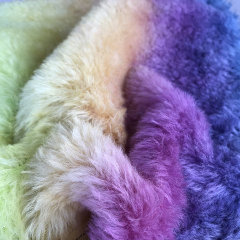 Medium Alpaca - Hand Dyed Rainbow - Fat 1/8m  - OCT062