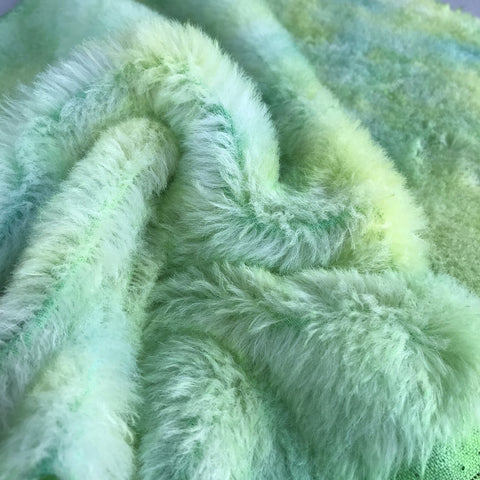 Medium Alpaca - Hand Dyed Green Spots - Fat 1/8m  - OCT063