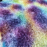 Curly Kid Mohair - Hand Dyed Rainbow Spots - Fat 1/4m - OCT113