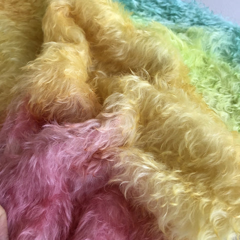 Bianca Mohair - Hand Dyed Rainbow - Fat 1/4m - OCT132