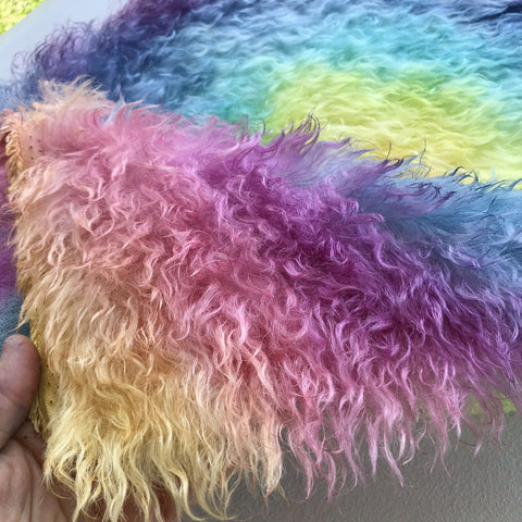 Eddie Long Shaggy Mohair - Hand Dyed Rainbow Sun - Fat 1/4m - OCT145