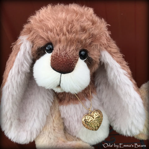 "Orla - 19"" Mohair and Alpaca Easter Bunny by Emma's Bears - OOAK"