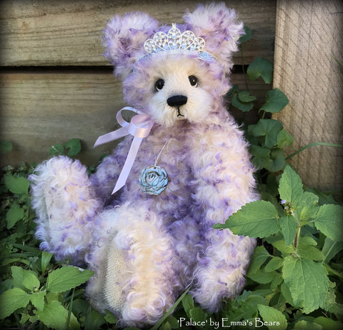 "Palace - 14"" curly kid mohair Artist Bear by Emmas Bears - OOAK"