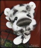Peppercorn - 8in Brand NEW faux fur artist bear by Emmas Bears - OOAK