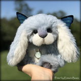 "Peter - 9"" Hand dyed alpaca artist Easter Bunny by Emma's Bears - OOAK"