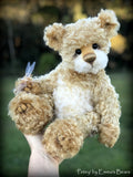 "Petey - 15"" curly mohair Artist Bear by Emma's Bears - OOAK"