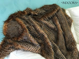 Pheasant Feather - Long Striped Feather Effect Faux Fur