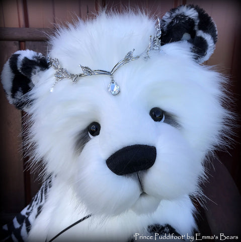 Prince Puddifoot - 32in Faux Fur Artist Bear by Emmas Bears - OOAK
