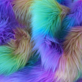 Rainbow Wave - stunning multi colour Faux Fur