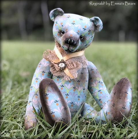 "KITS - 13"" Reginald Jointed Cotton Fabric Bear"