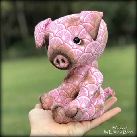 "KITS - 9"" Wallace Jointed Cotton Pig"
