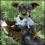 "Remus - 18"" mohair werewolf soft sculpture - OOAK by Emma's Bears"