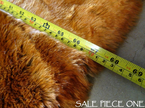 SALE - Pile crushed Pumpkin Spice Faux Fur - 2K17