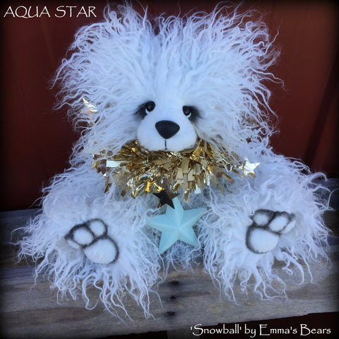 "KITS - 12"" Snowball faux fur Christmas Bear"