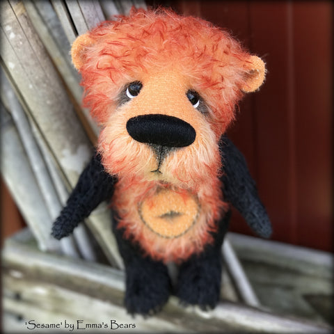 Sesame - 9in Brand NEW mohair artist bear by Emmas Bears - OOAK