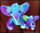 Suzie - 9in Hand-dyed viscose Artist Elephant by Emmas Bears - OOAK