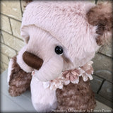 "Strawberry Marshmallow - 19"" Kid mohair and faux fur bear by Emma's Bears - OOAK"