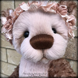 "KITS - 19"" Strawberry Marshmallow Kid Mohair and Faux Fur bear"