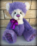 Thistle - 16IN hand dyed purple alpaca artist bear by Emmas Bears - OOAK