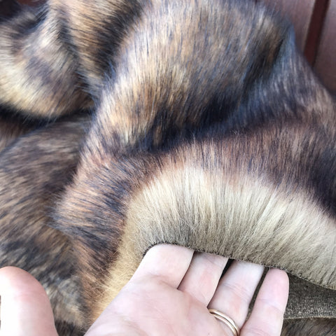 Timber Wolf - Dense Tipped Faux Fur