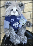 Toddler Colby Flint - 21in faux fur and alpaca Artist toddler style Bear by Emma's Bears - OOAK
