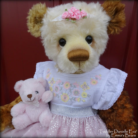 Toddler Danielle Eva - 22in MOHAIR Artist toddler style Bear by Emmas Bears - OOAK