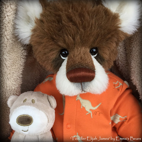 Toddler Elijah James - 22in ALPACA Artist toddler style Bear by Emmas Bears - OOAK