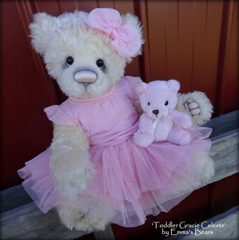 Gracie Celeste - 17in MOHAIR Artist toddler style Bear by Emmas Bears - OOAK