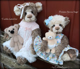 Toddler Isabel Iris - 22in hand dyed MOHAIR Artist toddler style Bear by Emmas Bears - OOAK