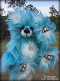 Toothpaste - 15IN faux fur artist bear by Emmas Bears - OOAK