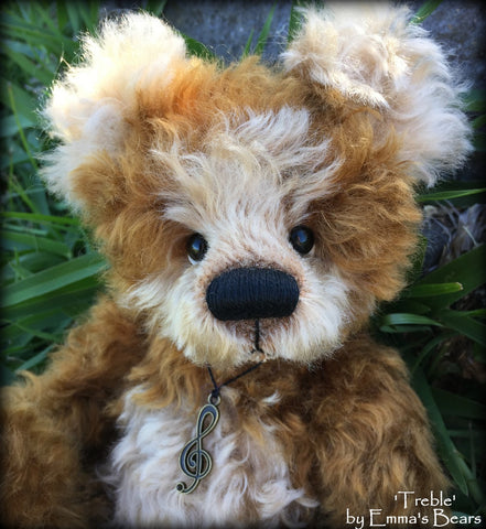 "KITS - 11"" Treble mohair bear"