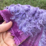 Curly Kid Mohair - Hand Dyed Tipped Purple - Fat 1/4m - OCT001