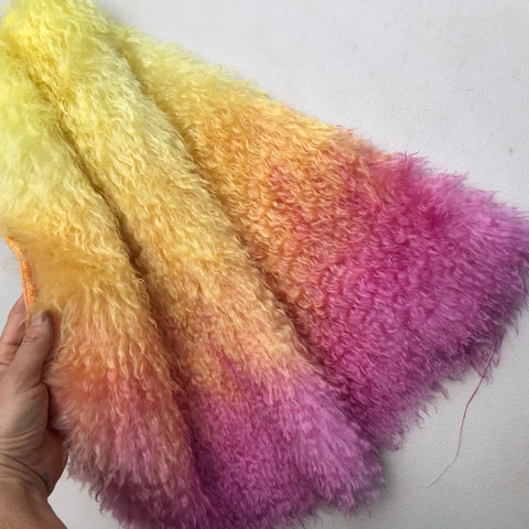 Curlylocks Mohair - Hand Dyed Sunset - Fat 1/4m - OCT027