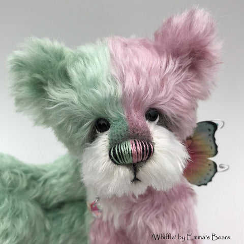 "Whiffle - 10"" Hand dyed artist Easter Butterfly Bear by Emma's Bears - OOAK"