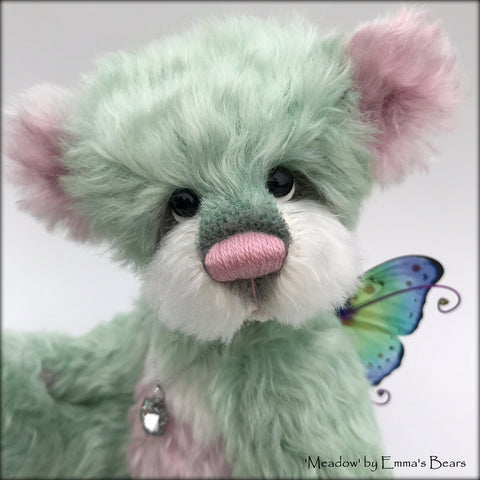 "Meadow - 10"" Hand dyed artist Easter Butterfly Bear by Emma's Bears - OOAK"