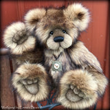 "Wolfgang - 15"" Faux Fur Artist Bear by Emmas Bears - OOAK"