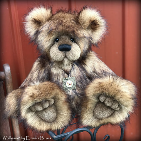 "KITS - 15"" Wolfgang faux fur bear"