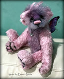 "Wren -10"" Hand-dyed mohair and viscose artist fairy bear by Emma's Bears - OOAK"